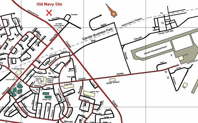 Town Of Gander Map NRS/CFS Gander